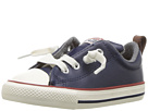 Converse Kids Chuck Taylor All Star Street Leather and Fleece Slip (Infant/Toddler)