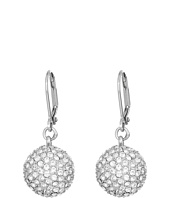 Nina - Leverback Pave Ball Drop Earrings