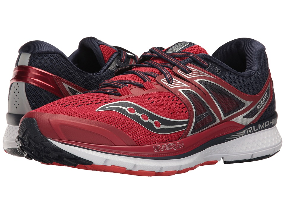 Saucony Triumph ISO 3 (Red/Navy) Men's Shoes