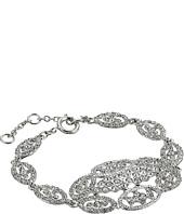 Nina - Vintage Style Pave Link Bracelet w/ Large Center Oval Cluster