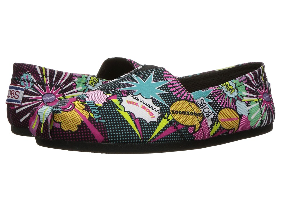BOBS from SKECHERS Bobs Plush Page Turner (Black/Multi) Women