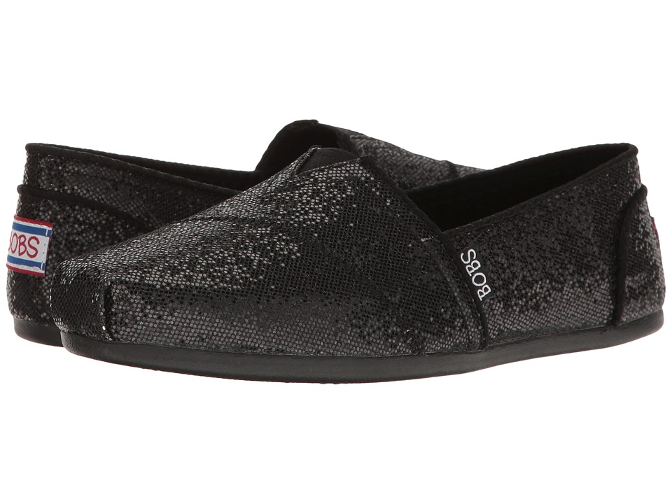 BOBS from SKECHERS Bobs Plush Friday Night (Black/Black) Women
