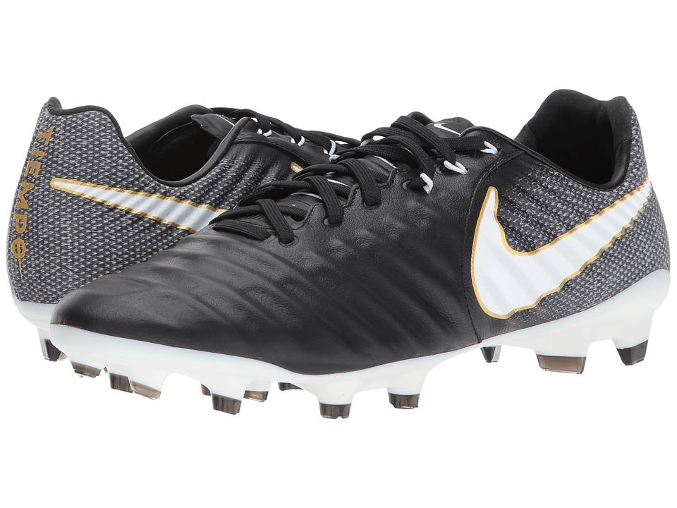 Nike Tiempo Legacy III FG (Black/White/Black) Men's Socce...