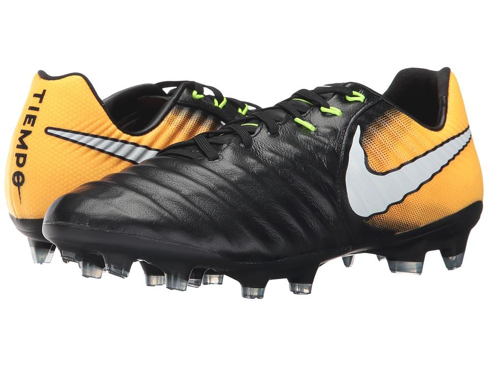 Nike Tiempo Legacy III FG (Black/White/Laser Orange/Volt) Men