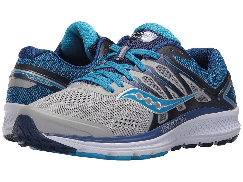 Saucony Omni 16 (Grey/Blue) Women's Running Shoes