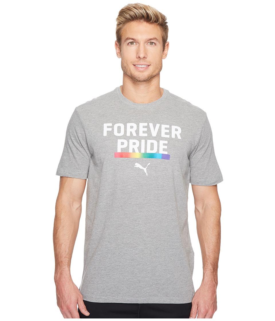 PUMA Forever Pride Tee (Medium Grey Heather) Men