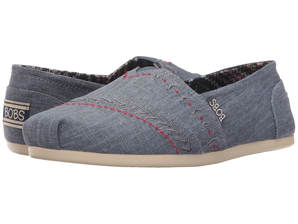 BOBS from SKECHERS Bobs Plush Feather (Blue) Women