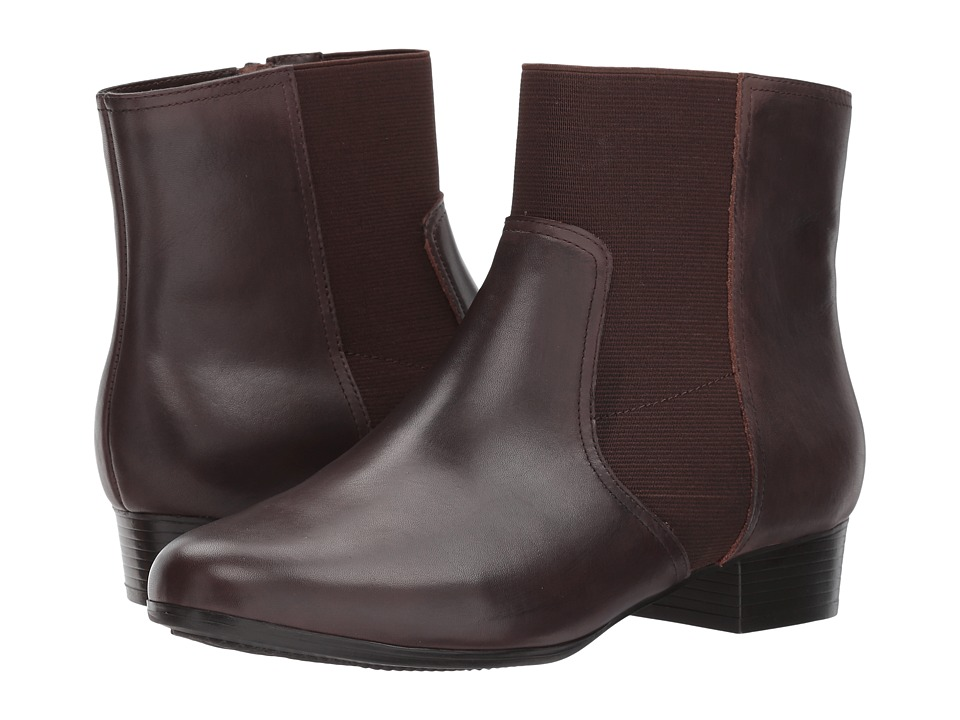 Trotters Monte (Dark Brown Smooth Leather) Women