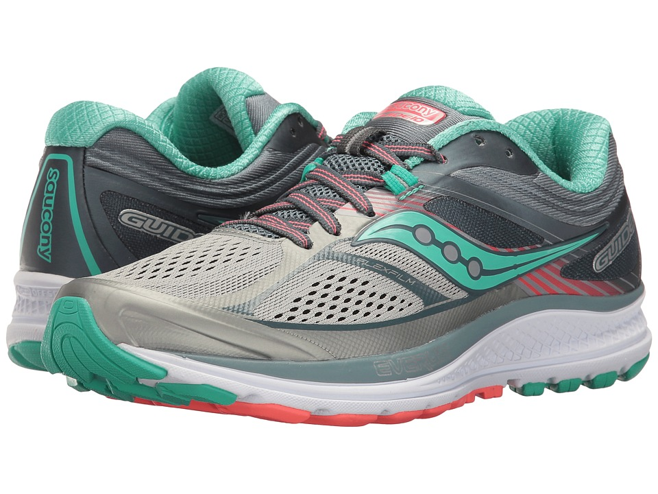 Saucony Guide 10 (Grey/Teal) Women