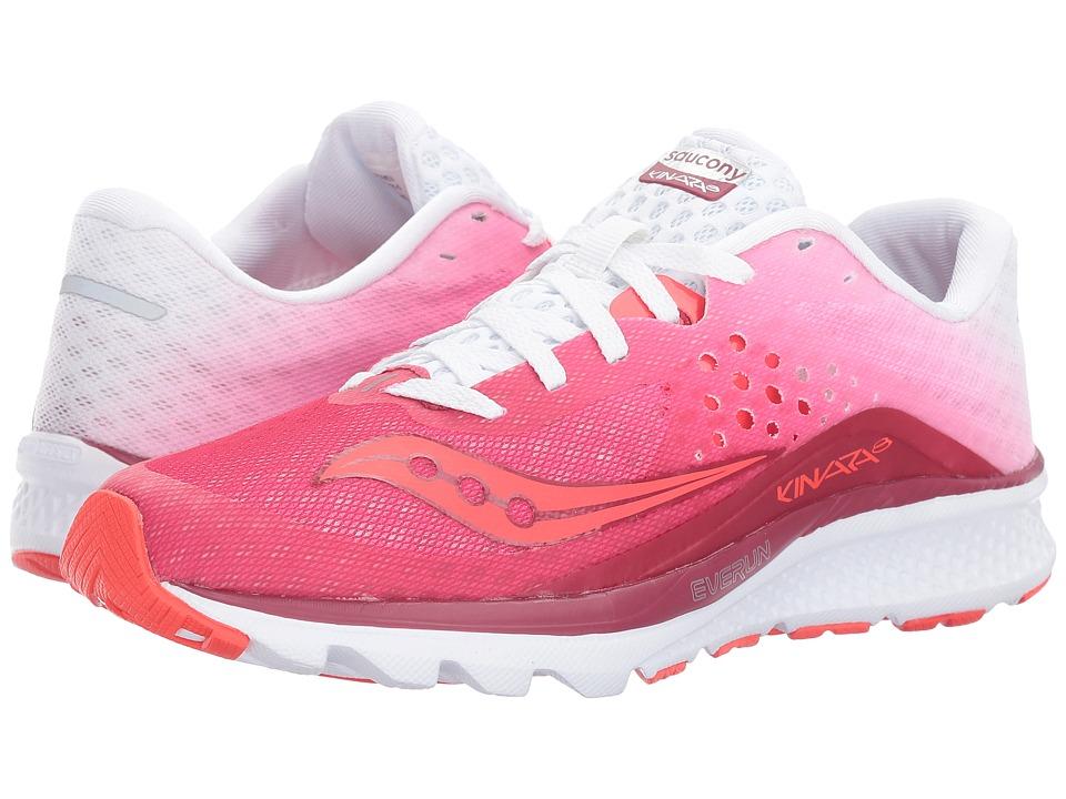Saucony Kinvara 8 (Berry/White) Women's Shoes