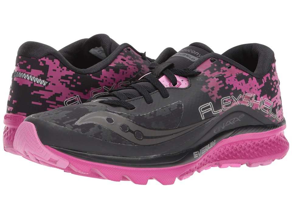 Saucony Kinvara 8 Runshield (Black/Pink) Women's Running ...
