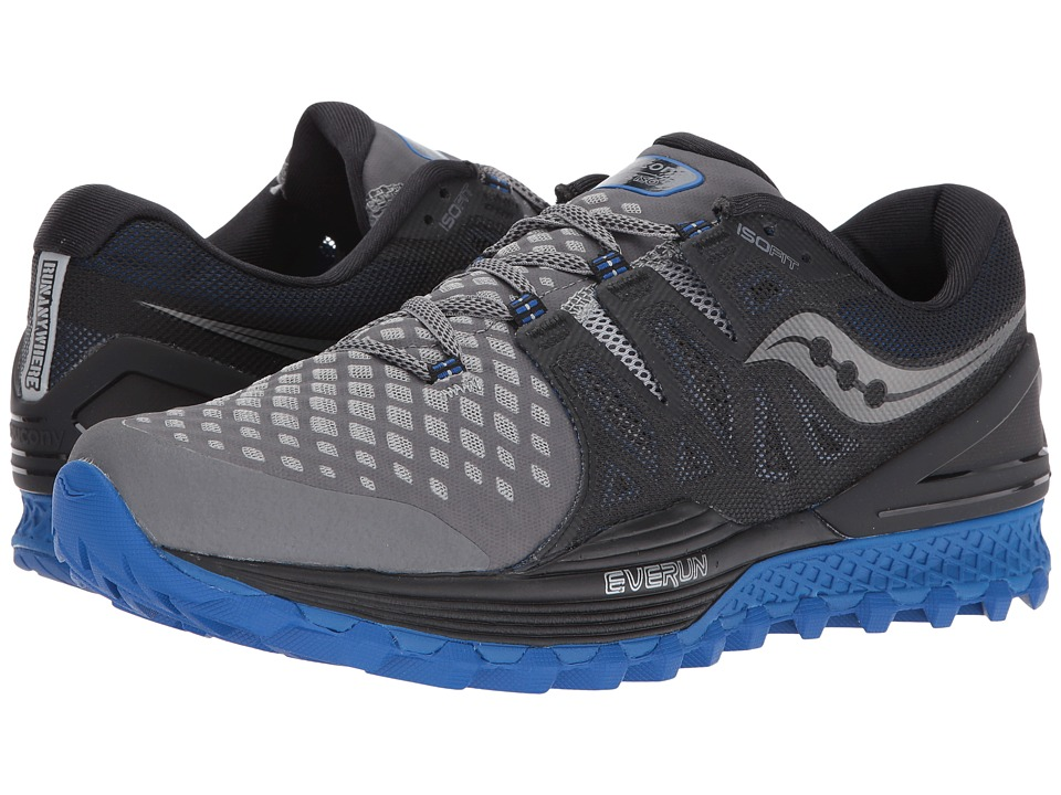 Saucony Xodus ISO 2 (Grey/Black/Blue) Men's Running Shoes