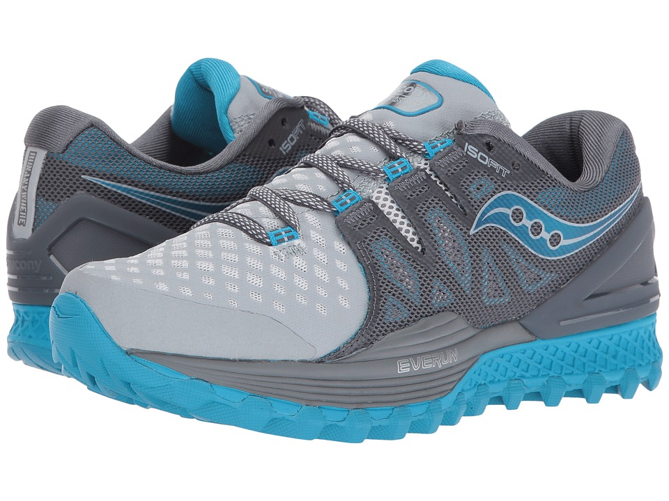 Saucony Xodus ISO 2 (Grey/Blue) Women's Running Shoes