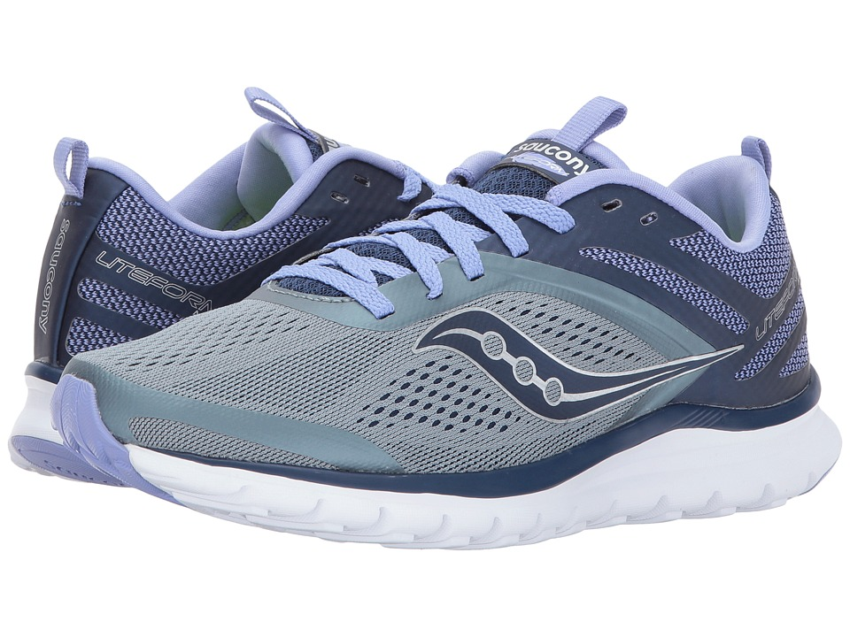 Saucony Liteform Miles (Grey/Navy/Purple) Women