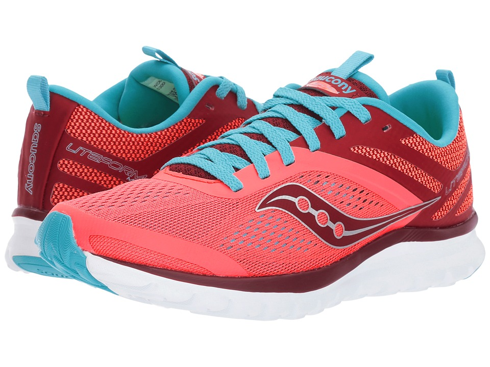 Saucony Liteform Miles (Coral/Blue) Women's Running Shoes