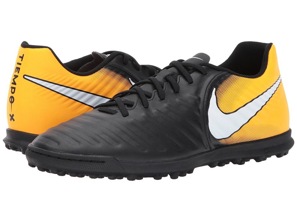 Nike TiempoX Rio IV TF (Black/White/Laser Orange/Volt) Me...