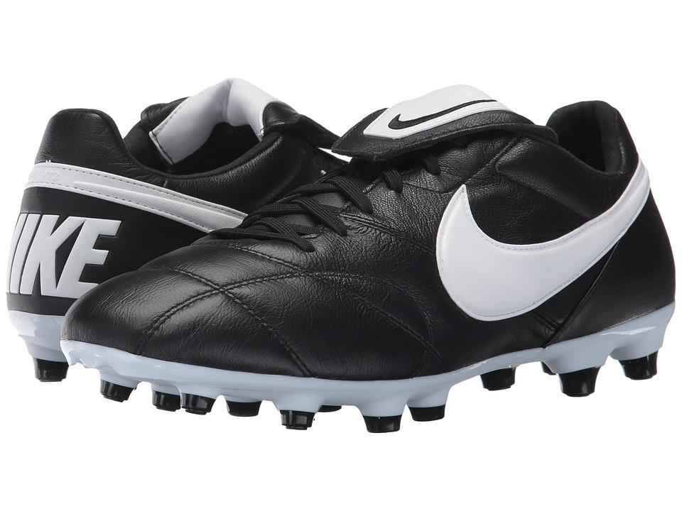 Nike - Premier II FG (Black/White/Black) Men's Soccer Shoes