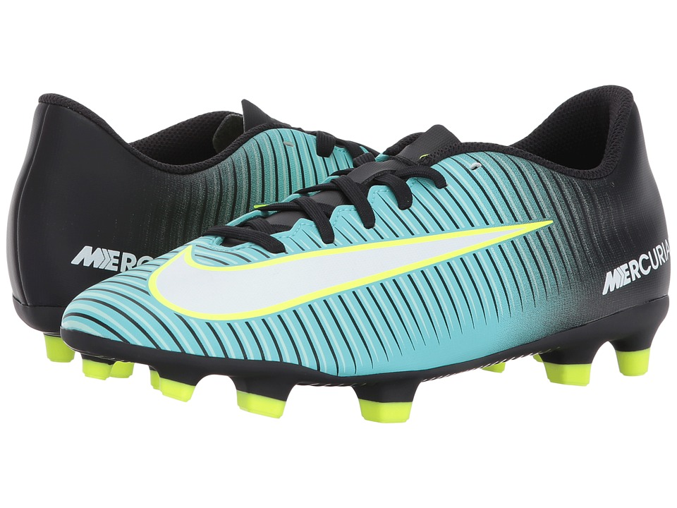Nike - Mercurial Vortex III FG (Light Aqua/White/Black/Volt) Women's Soccer Shoes