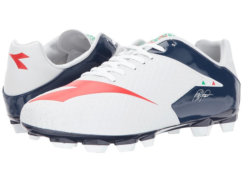 Diadora MW-Tech RB R LPU (White/B.Night/F.Red) Soccer Shoes