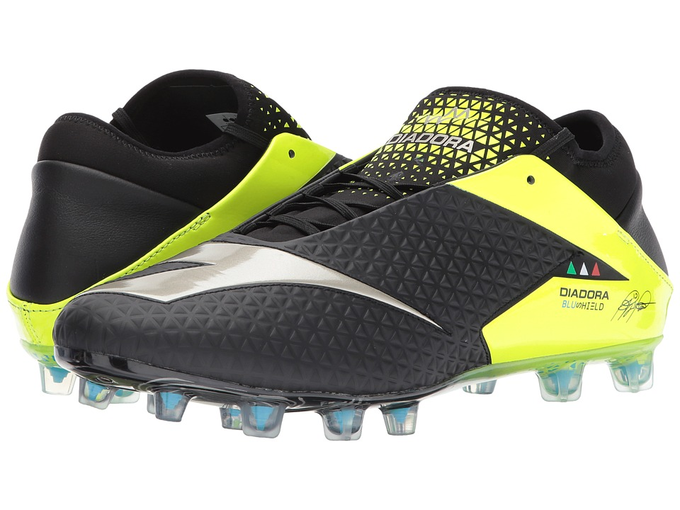 Diadora MW RB Blushield BSH12 (Black/Yellow Flourescent) Soccer Shoes