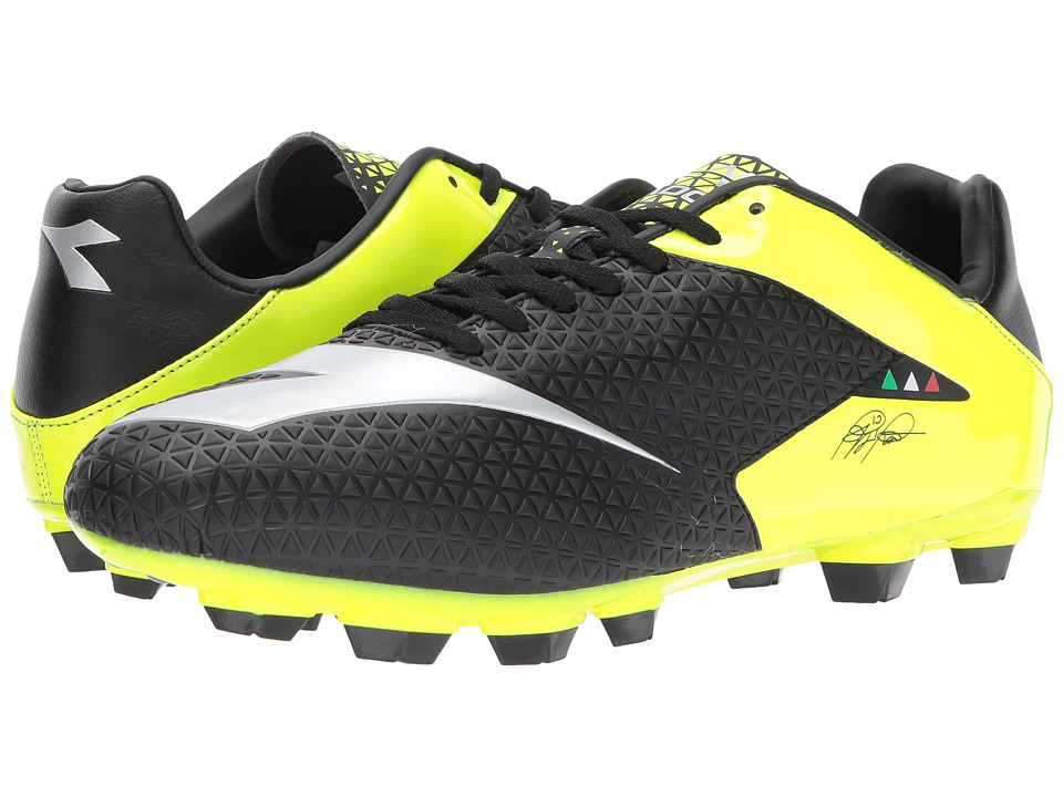 Diadora MW-Tech RB R LPU (Black/Yellow Flourescent) Soccer Shoes