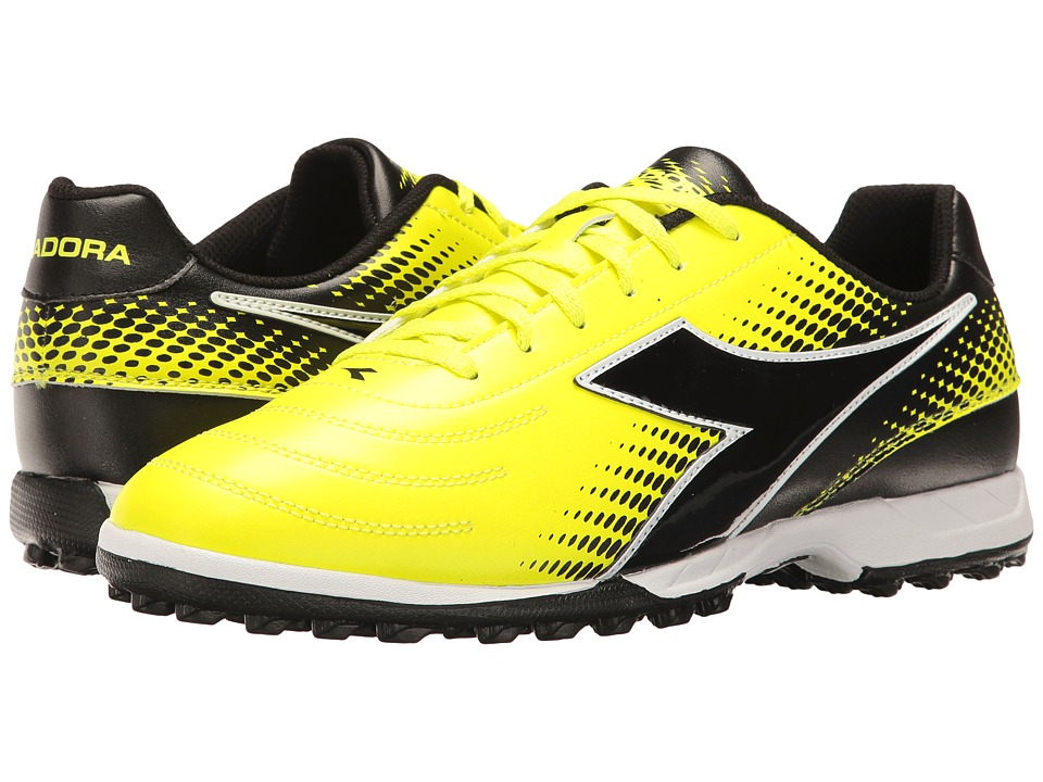 Diadora Mago R TF (Yellow Flourescent/DD Black) Soccer Shoes