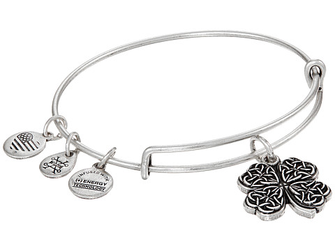 Alex and Ani Path of Symbols-Four Leaf Clover IV Bangle - Rafaelian Silver