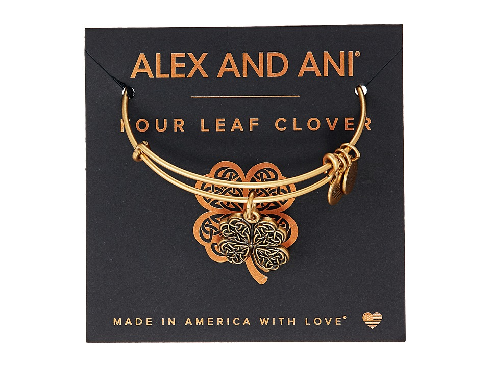 Alex and Ani - Path of Symbols-Four Leaf Clover IV Bangle
