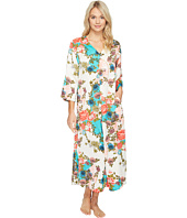 N by Natori - Blossoming Fans Zip Caftan