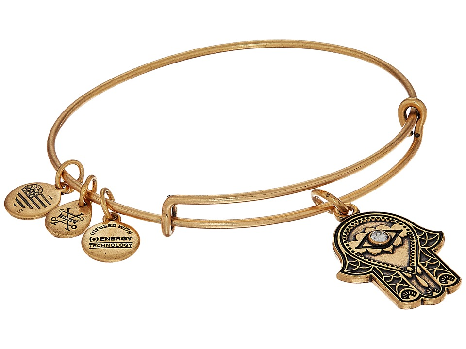 Alex and Ani - Path of Symbols-Hand of Fatima III Bangle (Rafaelian Gold) Bracelet