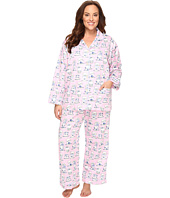 BedHead - Plus Size Long Sleeve Front Pocket Pajama Set