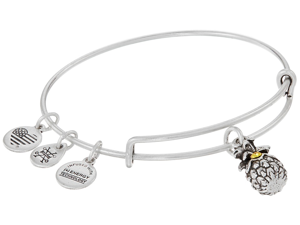 Alex and Ani - Path of Symbols-Pineapple III Bangle (Rafaelian Silver) Bracelet