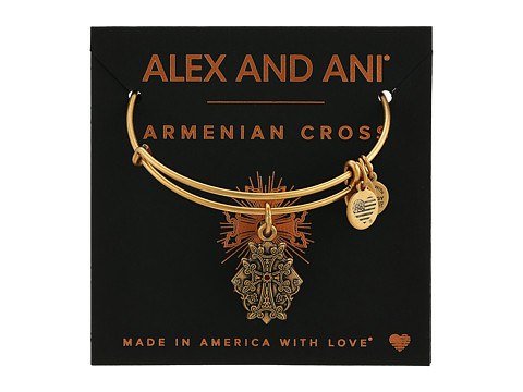 Alex and Ani Path of Symbols-Armenian Cross IV Bangle - Rafaelian Gold