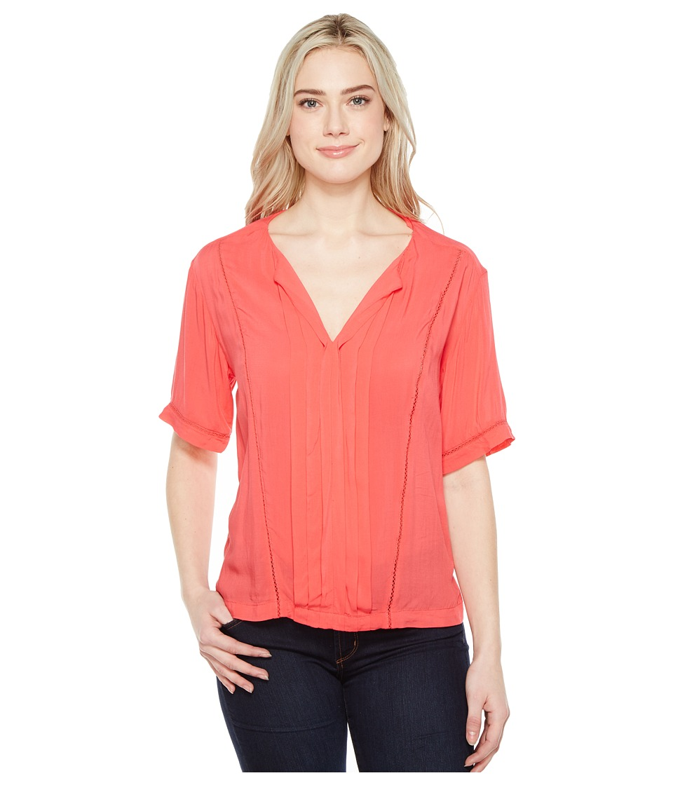 Calvin Klein Jeans Lace Inset Blouse (Teaberry) Women