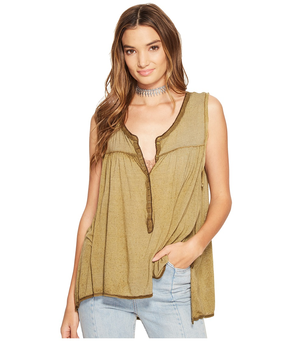 Free People Hudson Tank Top (Moss) Women