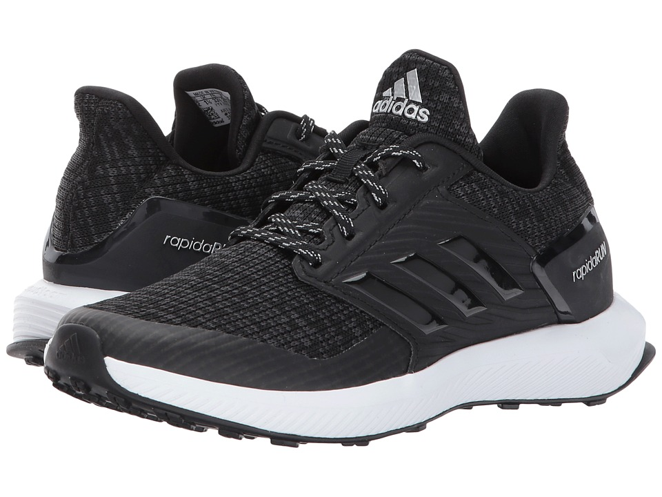 adidas Kids RapidaRun Lux C (Little Kid) (Black/White) Kids Shoes