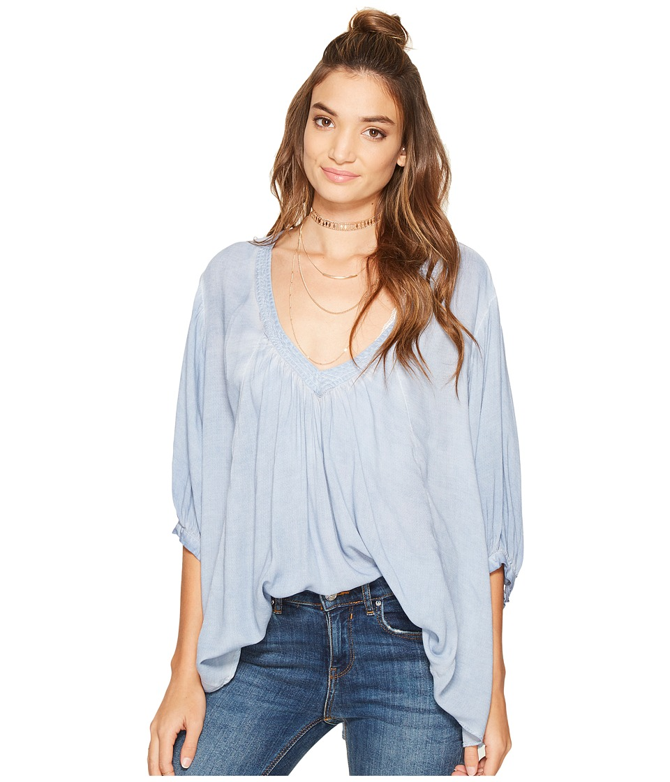 Free People Catch Me If You Can Tee (Blue) Women