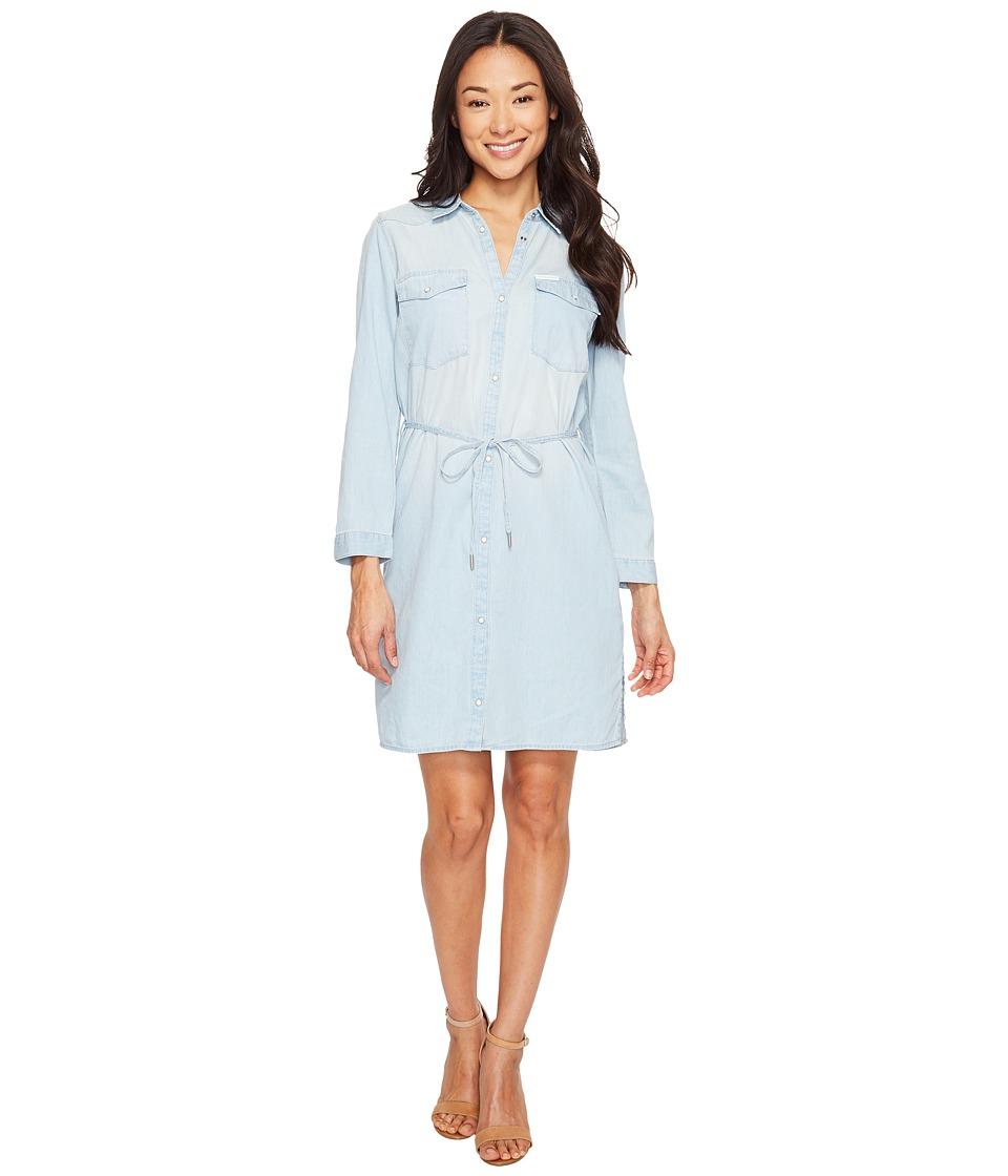 Calvin Klein Jeans Denim Western Dress (Ryan Light) Women