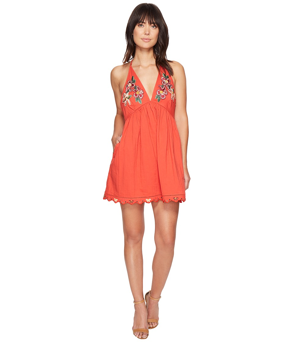 Free People Love and Flowers Dress (Coral) Women
