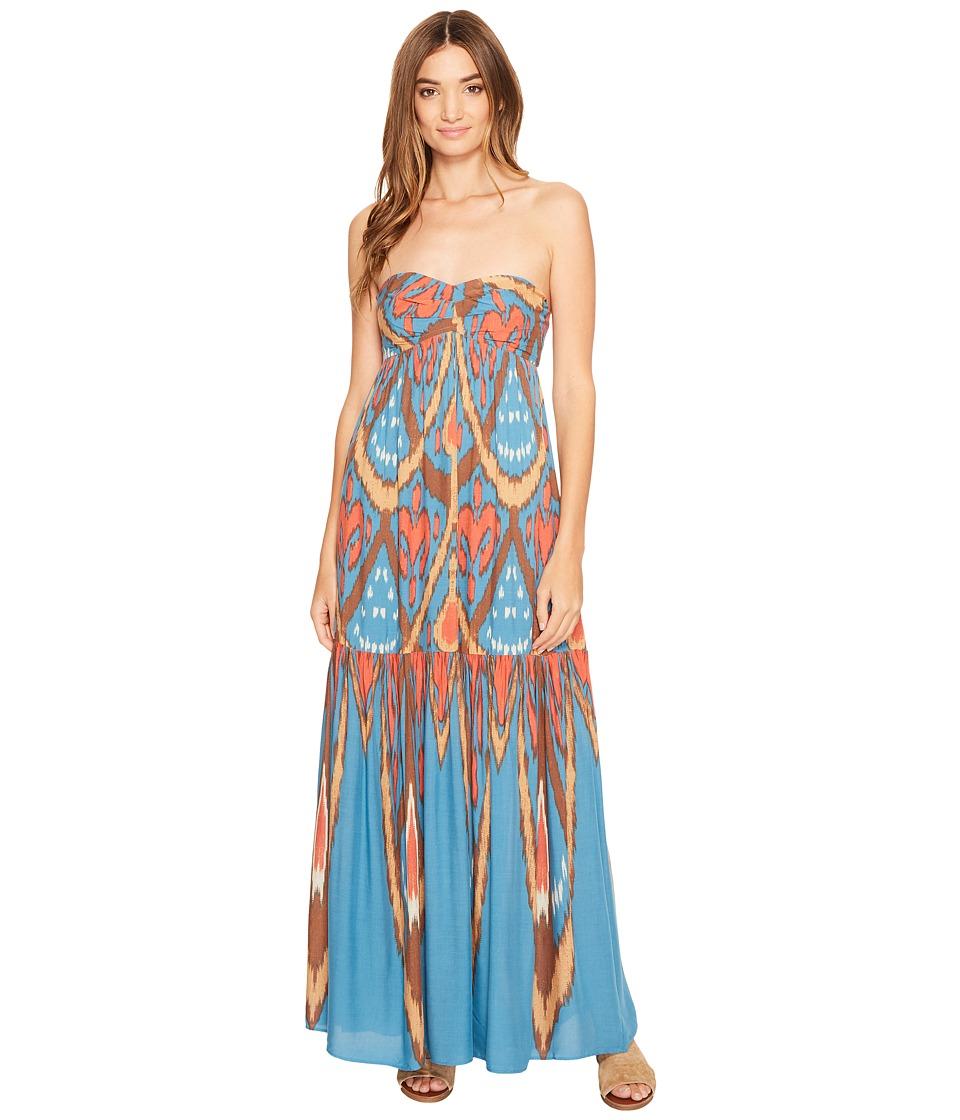 Free People Mojave Maxi Dress (Blue Combo) Women