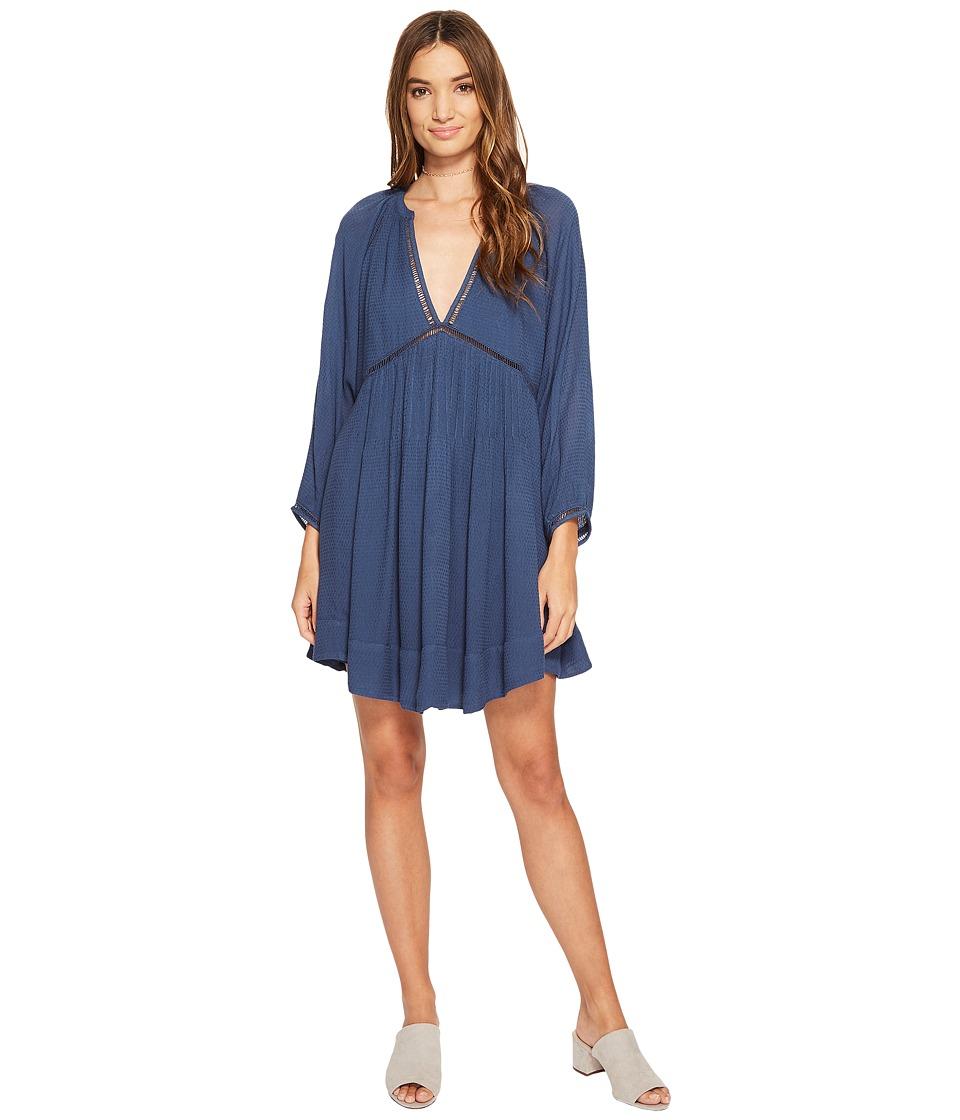 Free People Go Lightly Mini Dress (Blue) Women
