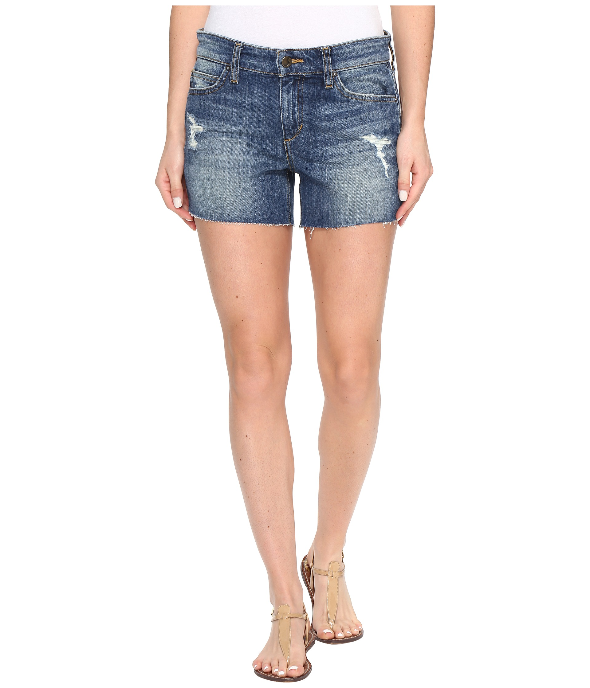 "Joe's Jeans Ozzie 4"" Cut Off Shorts in Rami at Zappos.com"
