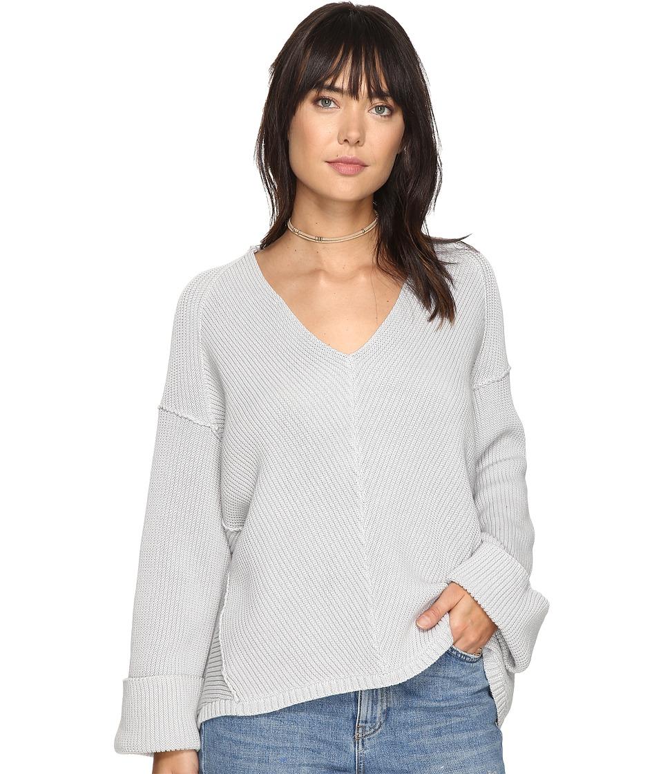 Free People La Brea V-Neck Sweater (Grey) Women