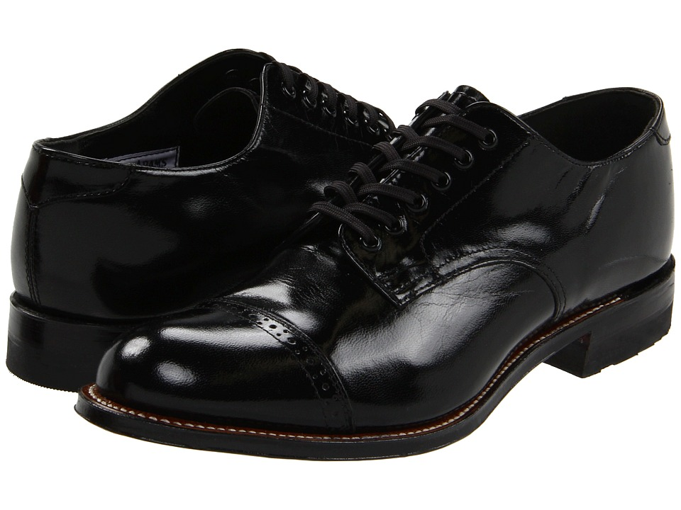 Stacy Adams - Madison (Cap Toe) (Black) Mens Dress Flat Shoes