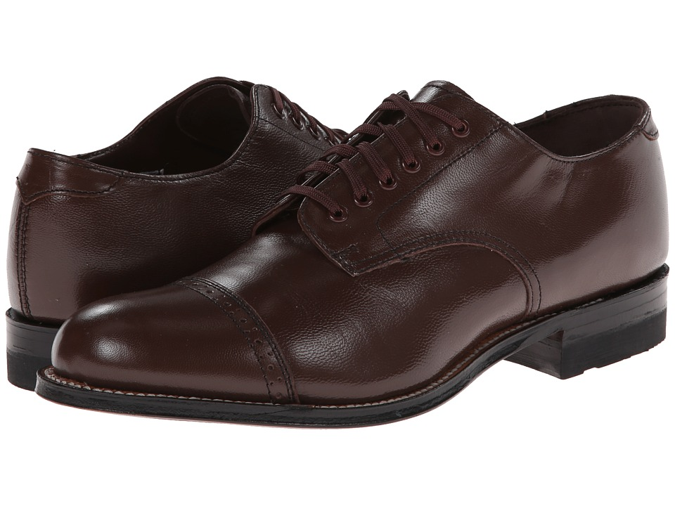 1920s Style Mens Shoes Stacy Adams - Madison Brown Mens Shoes $120.00 AT vintagedancer.com