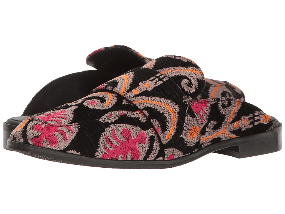Free People Brocade At Ease Loafer (Black Combo) Women