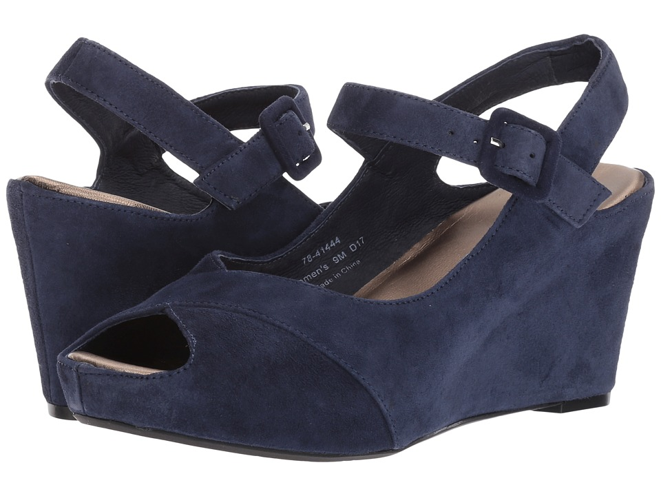 Johnston & Murphy Tara (Navy Kid Suede) Women's Shoes