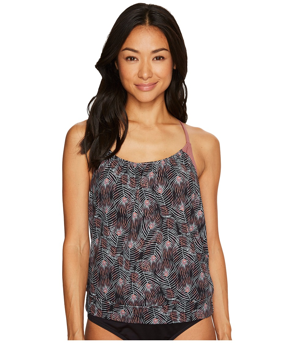 Carve Designs Sophia Tankini (Black Plume/Clay) Women