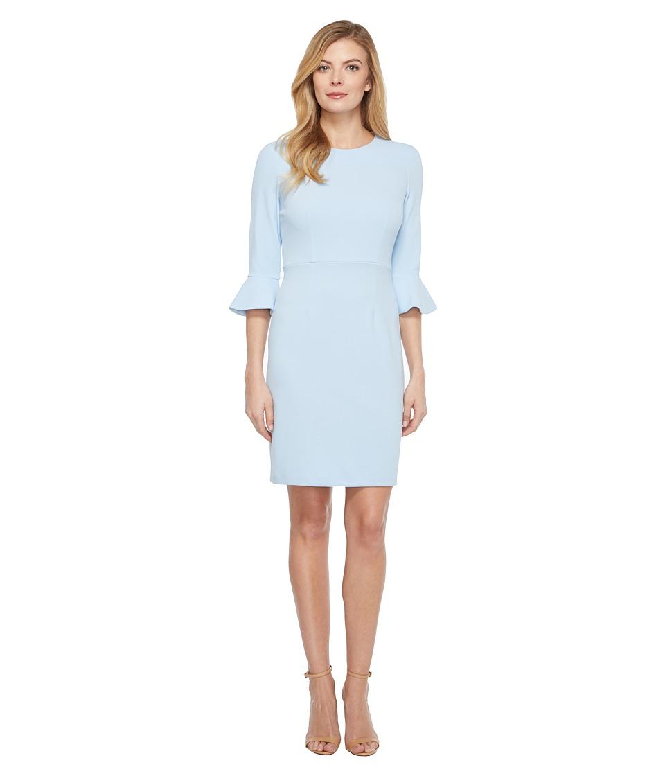 Donna Morgan 3/4 Bell Sleeve Sheath Dress (Powder Blue) Women