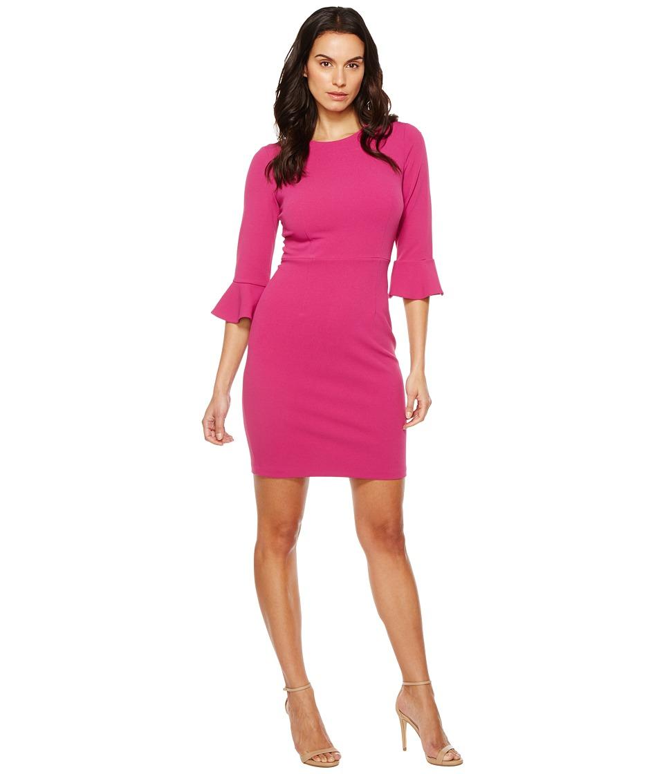 Donna Morgan 3/4 Bell Sleeve Sheath Dress (Raspberry) Women